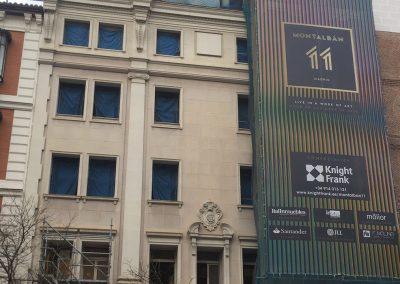 Estructura metálica en Edificio calle Montabán. Madrid