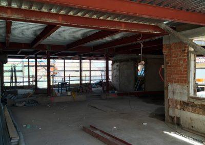 Reforma y estructura metálica en calle Atocha 49